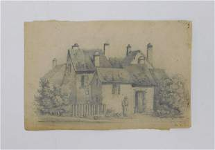 John Sell Cotman Architectural Pencil Drawing