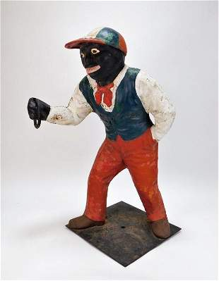 Black Americana Cast Iron Lawn Jockey