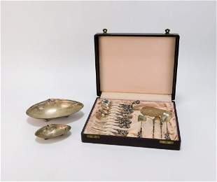 18PC Silver Serving and Accessory Group