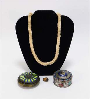 4PC European and Asian Table Articles Necklace