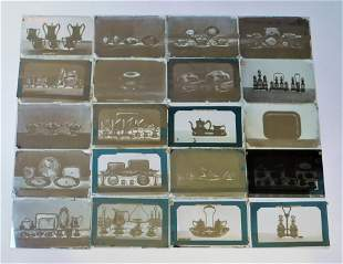 46PC Reed & Barton Glass Slide Photo Collection