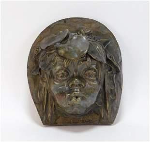 T. E. Pfeifer Art Nouveau Pottery Wall Plaque