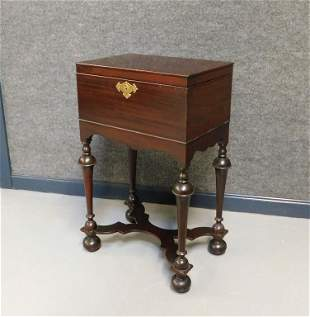 Mahogany Chest on Stand Humidor Cellarette