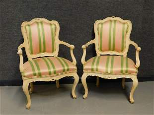 PR French Upholstered Side Chairs