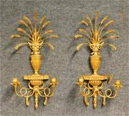PR Italian Wheat Sheath Wall Sconces