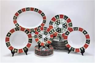 24PC Neiman Marcus Porcelain Holiday Dishware