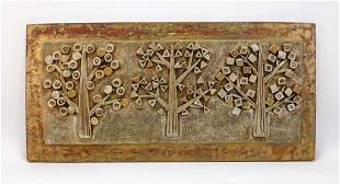MCM Resin Forest Sculpture Sofa Mantle Wall Plaque
