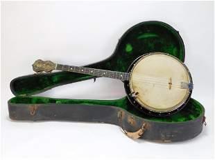 1920s DeWitt 4 String Tenor Banjo