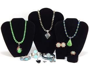 12PC Native American Style Jewelry Group