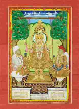 Indian Miniature Painting of Swaminarayan