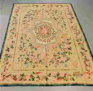 French Aubbuson Botanical Room Size Rug
