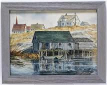 Ron Brake New England Coastal WC Painting