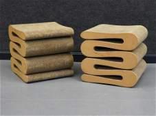 PR Frank O. Gehry Wiggle Cardboard Stool