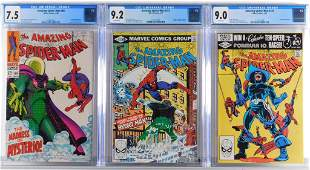 3PC Marvel Comics Amazing Spider-Man CGC Group