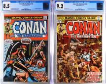 Marvel Conan the Barbarian #23 #24 CGC 8.5 9.2
