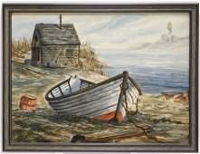 Ron Brake New England Coast WC Painting