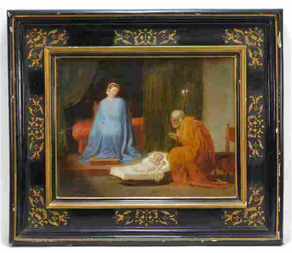 18C Italian Old Master's Nativity Scene Painting