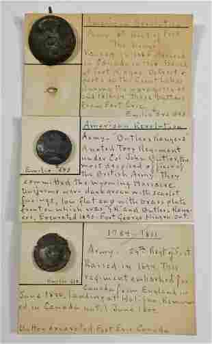 Three British Revolutionary War Buttons