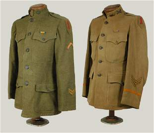 Two U.S. WWI 1st Division Tunics