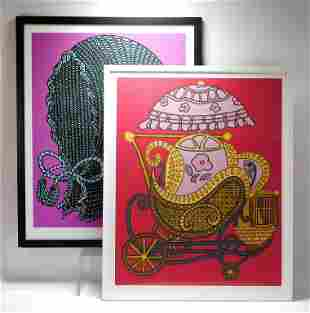 PR William Copley Pop Art Baby Lithographs
