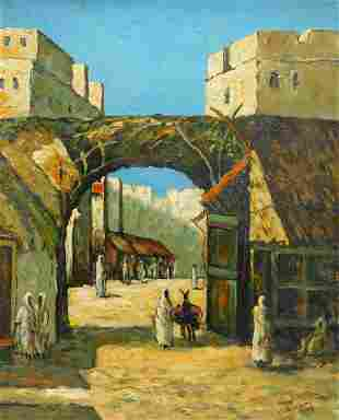 Impressionist North African Market Painting