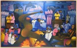 Attr. Hughes Domond Haitian Folk Art Painting
