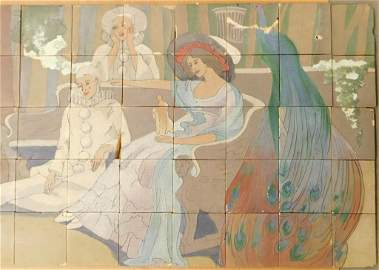 Monumental Rookwood Chase's Theater Tile Mural