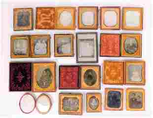 16PC Daguerreotype Ambrotype Tintype Collection