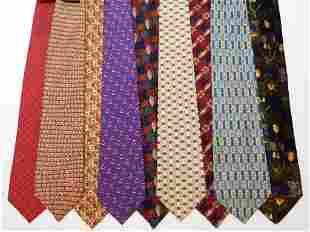 9PC Hermes Givenchy Burberry & Other Designer Ties