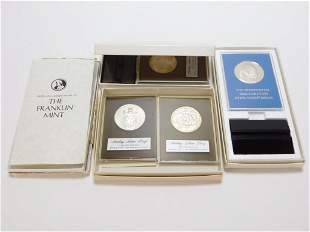 5PC Franklin Mint Sterling Silver Collectors Coins