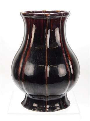 Qing Period LG Chinese Pomegranate Vase