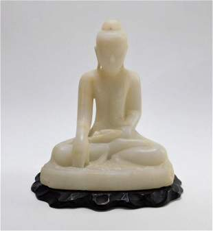 S.E. Asian Carved Marble Buddha Sculpture