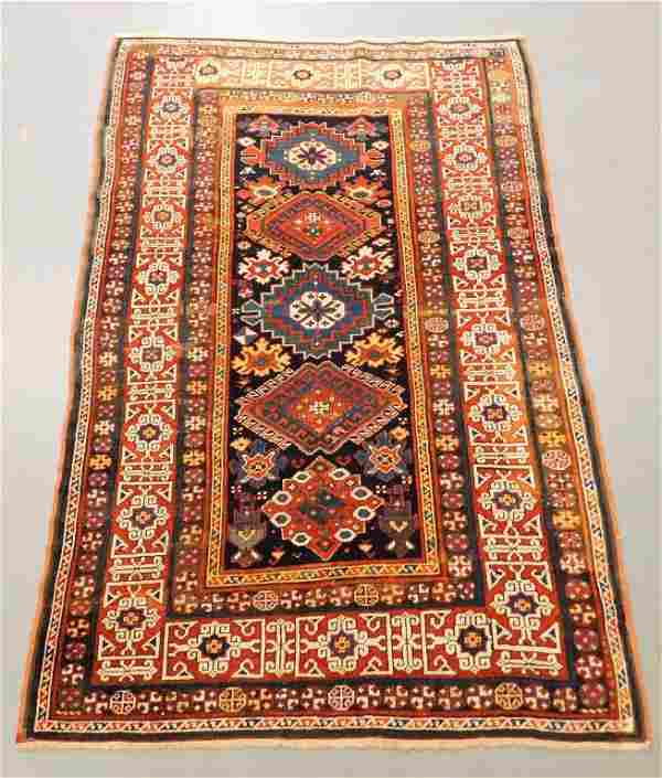 Antique Geometric Kazak Carpet