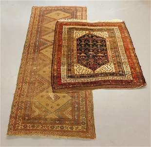 2PC Antique Kurdish Bidjar & Persian Tribal Rugs