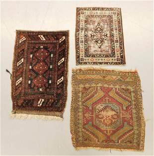 3PC Group of Antique Small Rugs