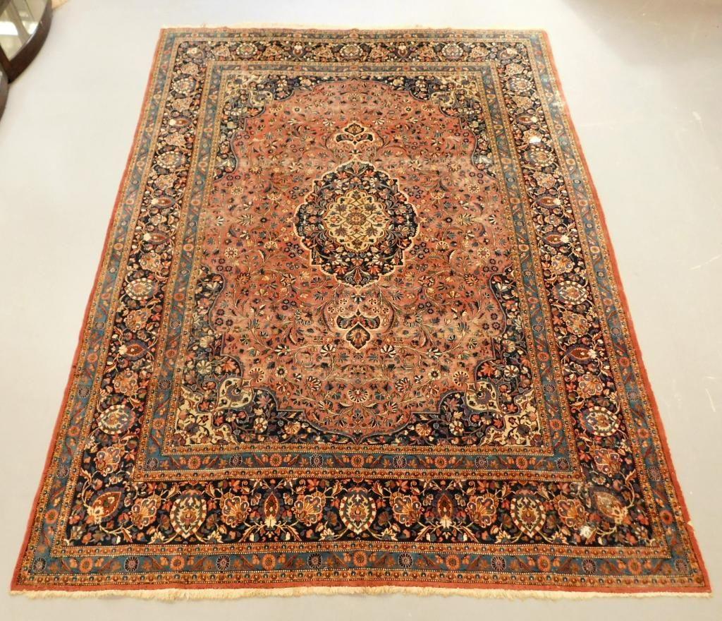 LG Persian Kashan Floral Rug
