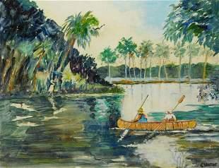 Charles Kontos Florida Highwaymen Painting