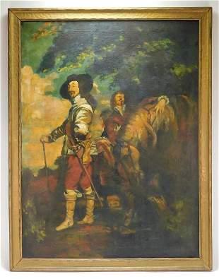 Aft. Anthony van Dyck Charles I Portrait Painting