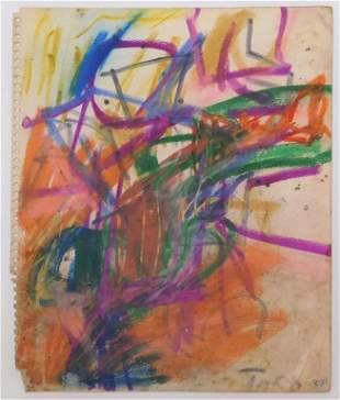 Taro Yamamoto Abstract Pastel Drawing