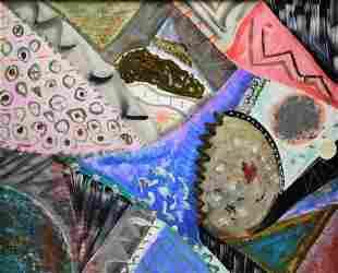 Modern Abstract Mixed Media Painting