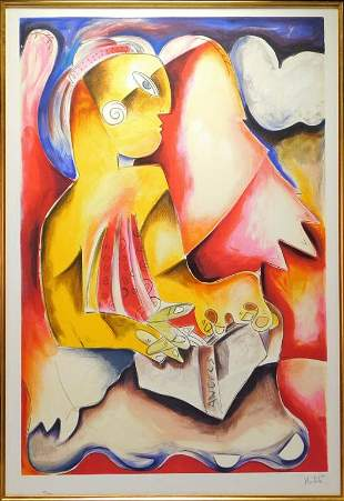 Alexandra Nechita Modern Abstract Lithograph