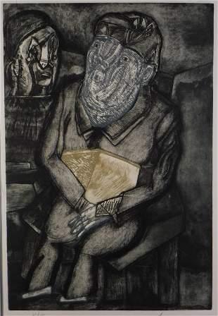 Jose Luis Cuevas Surrealist Portrait Print