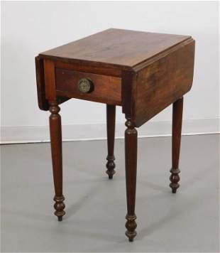 19C Sheraton Mahogany One Drawer Stand