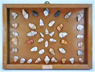 42 Native American Carved Arrowheads