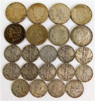 22PC American Silver & Half Dollar Collection