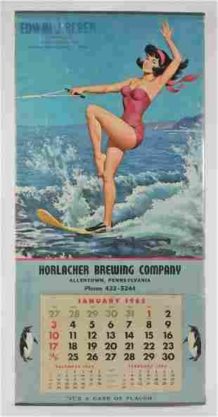 Arthur Sarnoff 1965 Horlacher Brewing Co. Calendar