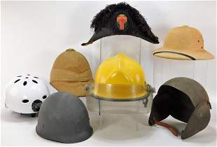7PC American & English Military & Other Helmets