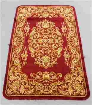 Spanish Red Savonnerie Rug