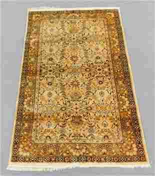 Chinese Ivory & Gold Floral Rug