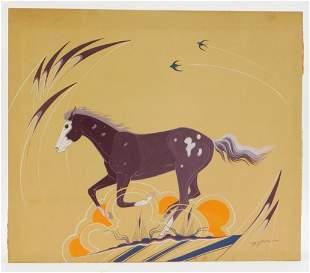 Beatien Yazz Running Horse Painting